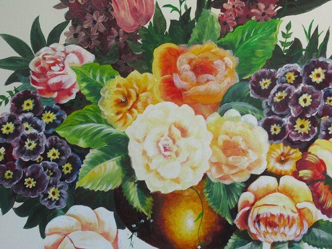 טלי ברוינר_פרחים בסלון הבית